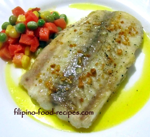 Fish Fillet with Lemon Garlic Butter Sauce