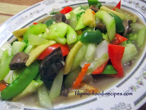Chopsuey with Cucumber