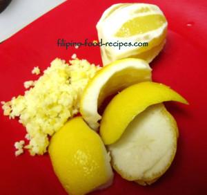 lemon pith