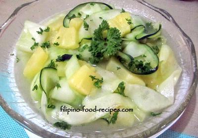 Cucumber Pineapple Salad
