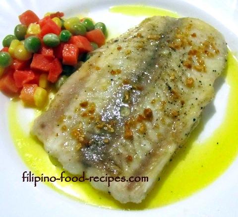 Fish Fillet with Lemon Garlic Butter Sauce