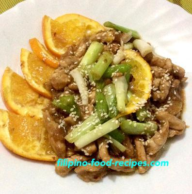 Chicken with Orange and Sesame Seed